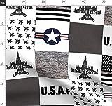 Luftwaffe, Militär, Flugzeuge Stoffe - Individuell