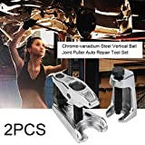 Leoboone 2PCS / SET Acero al cromo-vanadio Plata tratada térmicamente Separador de extractor de rótula vertical Separador de herramientas Conjunto de herramientas de reparación automática