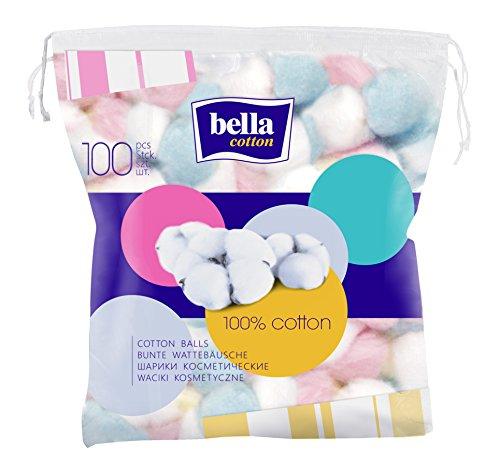 Bella Cotton bunte Wattebällchen, 5er Pack (5 x 100 Stück)