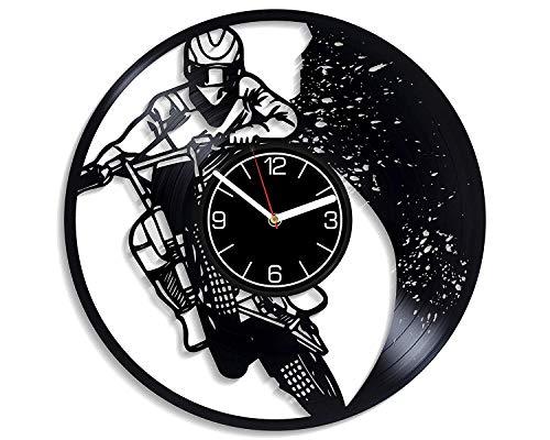 LKCAK Motocicleta Racing Decoración 12 Pulgadas Reloj de Pa