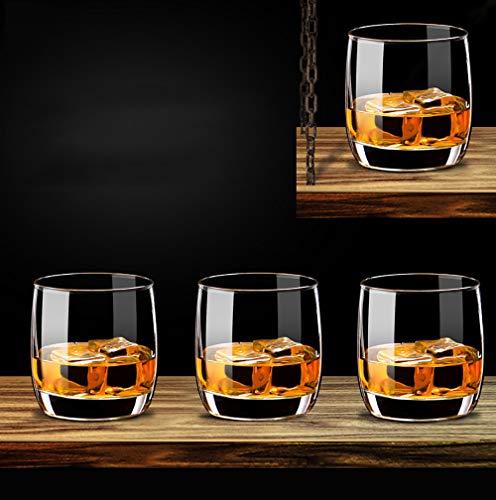 ZUEN Cocktailgläser 6er-Set, Weinglas, bleifrei, hitzebeständig, transparent, Kristall, Bier, Whisky, Brandy, Wodka, Tasse, Trinkgeschirr, stammlose Weingläser,200ml