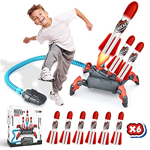 Toys for 4 5 6 7 8 9 Year Old Boys Girls,Stomp Toy Rocket Launcher for Kids...
