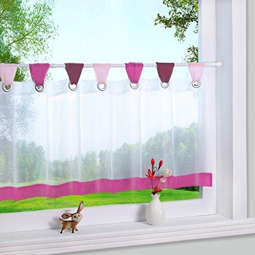 Yujiao Mao Bunte kleine Kaffee Vorhang Terri Garn Raffrollo H*B 45 * 90cm, Pink