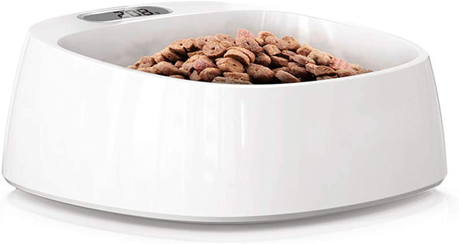 PetDream Intelligent Weighing Food Bowl Scientifically Quantifying Dogs and Cats Antibacterial Bowl Exclude Battery