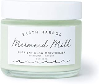 Earth Harbor | MERMAID MILK Nutrient Glow Moisturizer | Lightweight Botanical Hydration | Matcha and Spirulina | 100% Non-...