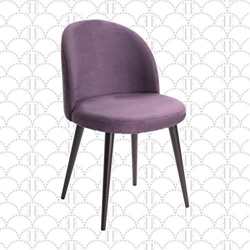 Elle Decor Elle Décor Cami Vanity Chair, Violet