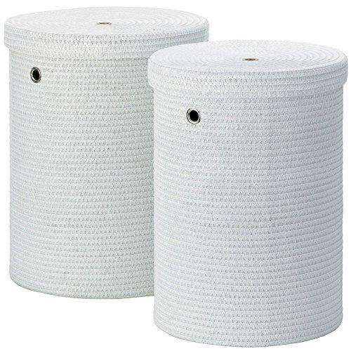 kela Wäscheboxen-Set Rimossa 2 Stücke aus Stoff in weiß, Textil, 42 x 42 x 52 cm