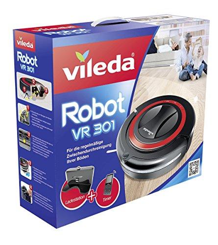 Vileda VR301 Saugroboter mit Ladestation, Hinderniserkennung und Zeitsteuerung - 2