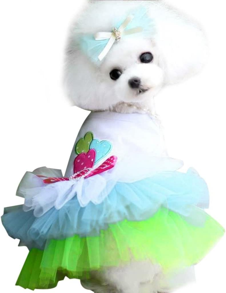 OutTop Girl Dog Dress Lace Princess for Tutu Shirt Super-cheap Clothes specialty shop Smal