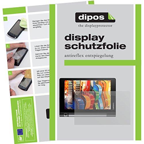 dipos–Protector de pantalla compatible con Lenovo TAB38pulgadas (2unidades, antirreflectante), mate