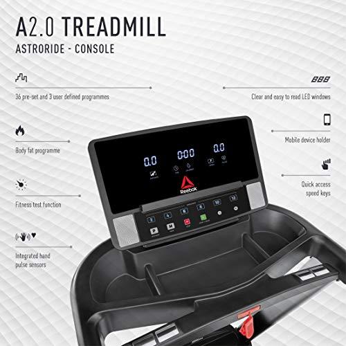 Reebok A2.0 Treadmill - Silver - 120V