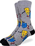 Good Luck Sock Men's Drama Theater Comedy and Tragedy Masks Socks, Size 7-12