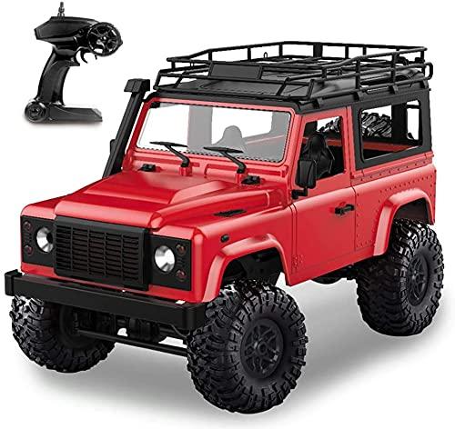 CYLYFFSFC 1/12 4WD 2.4G control remoto de alta velocidad camión todoterreno control remoto luces LED para automóvil Estructura de modelo profesional de tracción en las cuatro ruedas, automóvil de esca
