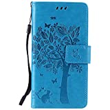 Lomogo [Tree Embossing LG K5 Leather Wallet Case with