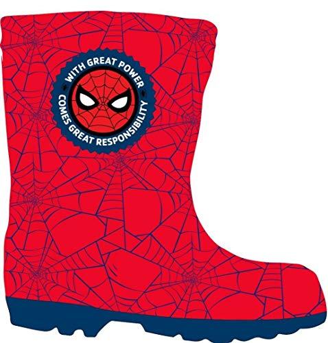 Spiderman Jungen Gummistiefel Schuhe(26 - UK 8.5)