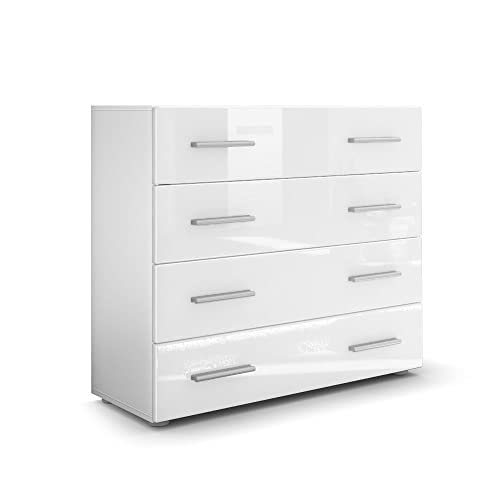 White Gloss Bedroom Drawers Amazoncouk