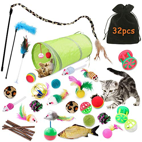 TOPSEAS Jouets Chat,Kit Jouet Chats,Jouet pour Chat...
