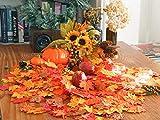 GiBot 400 Stück sortierte farbige Ahornblätter künstliche Herbstkunst Ahornblätter Tischdeko für Halloween, Thanksgiving, Hochzeiten, Zuhause, Innen- und Außendekoration - 5