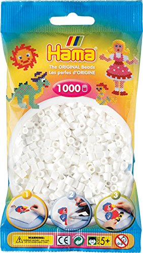 Hama 207-01 - Bügelperlen, ca. 1000 Perlen, weiß