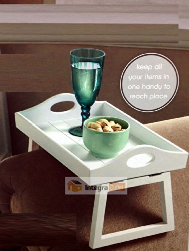 dy&dx White Wooden Armchair Tray