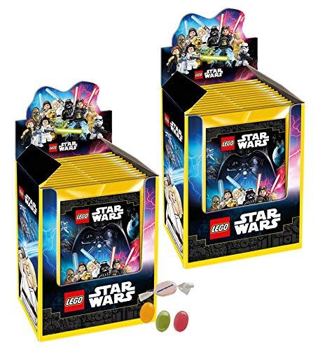DE Lego Star Wars Sticker 2020 - 2 Displays (je 36 Stickertüten) zusätzlich 1 x Fruchtmix Sticker-und-co Bonbon