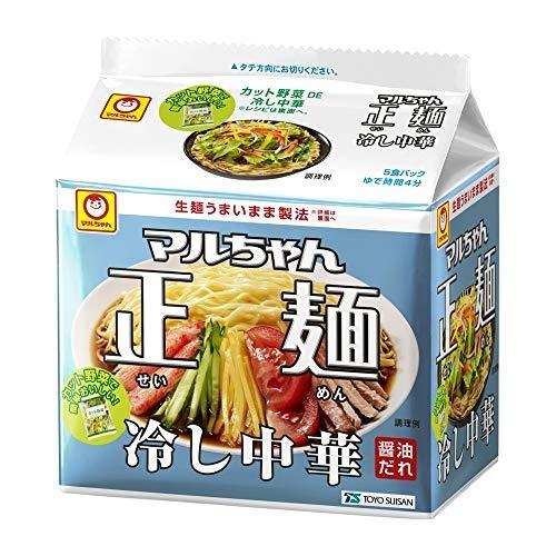 [2個セット] 東洋水産 マルちゃん正麺 冷し中華 5食パック