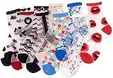 ANDIBEIQI - 10 pares de calcetines de mujer de algodón transparente, de...