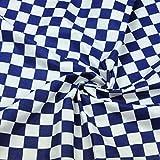 Quadrat Blau Weiß 100% Baumwolle Baumwollstoff Dreiecke