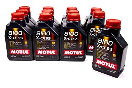 Motul 102784-12 8100 X-Cess 5w40 Oil Case/12-Liter