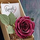 Camellia Bees Handgemachte Papierrosen Burgunderrot - Ewige Papierrose in Rot - Infinity Rosen als Geschenk für Frauen zu Geburtstag, Hochzeit, Valentinstag - Edle Kunstrose als Deko - Burgunder rot…