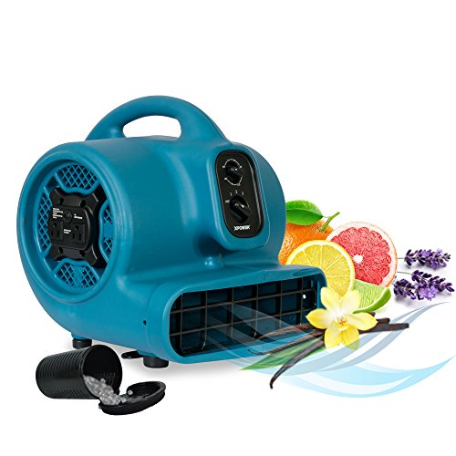 XPOWER P-450AT 1/3 HP Freshen Aire Scented Air Mover with Timer & Daisy Chain