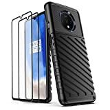 AIFIVE Case for OnePlus 7T with Tempered Glass Screen