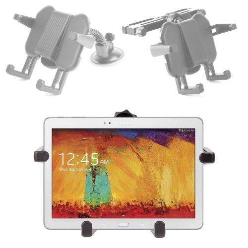 DURAGADGET Support Voiture 2 en 1 d'appuie-tête et Pare-Brise - Ajustable - pour Samsung Galaxy Note 10 Edition 2014 Tablette 10,1\