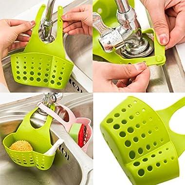 Remiel Store Kitchen Bathroom Dish Drying Rack Holder Drainer Sink Storage Bag (B Green, 22cmX12cm)