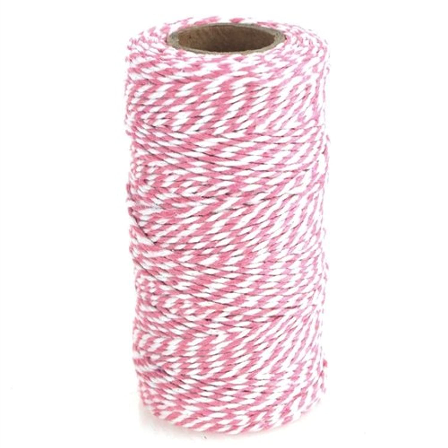 Homeford Firefly Imports Cotton Bakers Twine Ribbon, 10-Ply, 100 Yards, Pink,