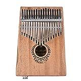 17 teclas Kalimba Enlace Altavoz Pastilla eléctrica Calimba Bolsa Cable Madera maciza Kalimba Instrumento musical