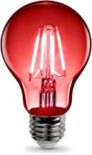 "FEIT Electric A19/TR/LED LED Light Bulb, A19 2.38"" D x 4.44"" H, Red"