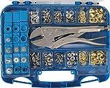 BGS - Pressa BGS 572 per occhielli, assortimento di 275 pezzi, quantità: 1...