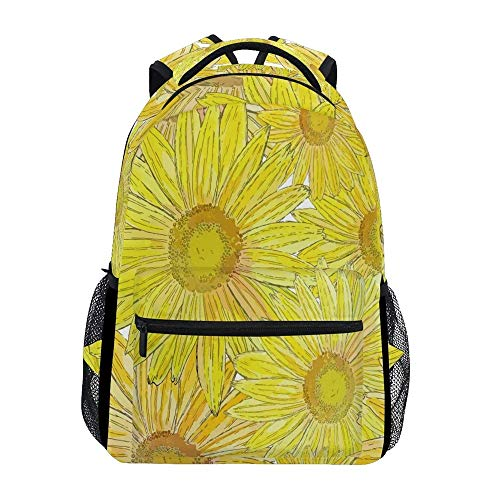 Daypacks Grunge Sunflowers Blumengeschenk Teens Casual Special Vintage Bedruckte Schulrucksack Retro Durable Daypack Leichte College Bookbag Travel Student Umhängetasche