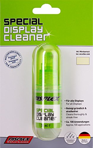 Displex Reiniger Sprühflasche mit Mikrofasertuch