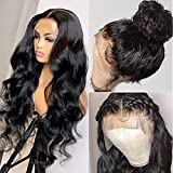 13X4 Lace Front Wigs Human Hair, Body Wave Lace Front Human Hair Wigs for Black Women, Urbeauty 20 Inch Human Hair Brazilian Virgin Wavy Lace Frontal Human Hair Wigs Pre Plucked With Baby Hair