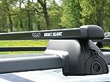 Perrycraft MB3747-B-02 Black Rectangular Gripper Load Bar