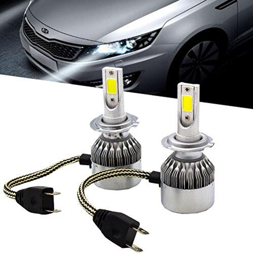 A Seoul LED CSP 72W 8000LM 6000K White All-In-One Kit Headlight Bulbs H7