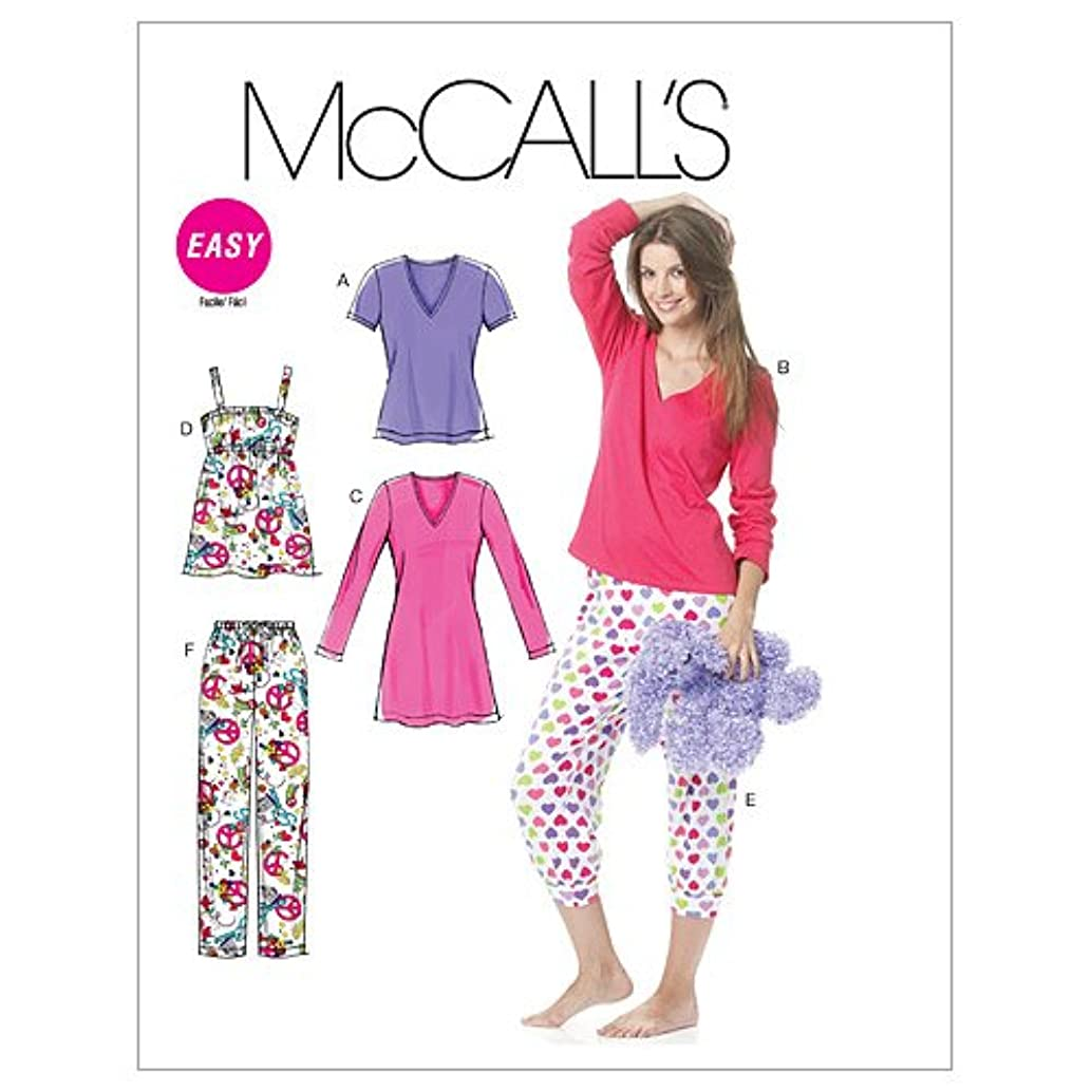 McCall's Patterns M6250 Misses'/Women's Tops, Nightshirt And Pants, Size RR (18W-20W-22W-24W)