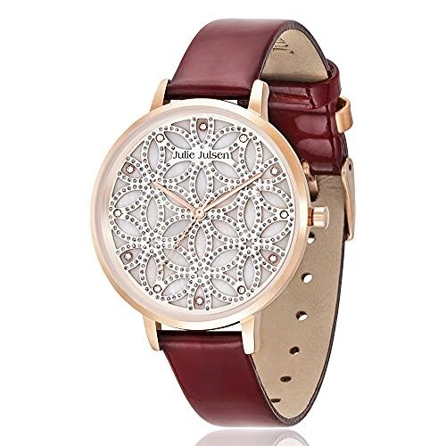 Julie Julsen Reloj de pulsera de cuarzo para mujer Flower of Life en oro rosa con circonitas – JJW1235G38-RGL