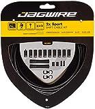 Jagwire 2X Sport Shift Kit guaina e cavi deragliatore per adulti, Unisex, Nero, Taglia Unica