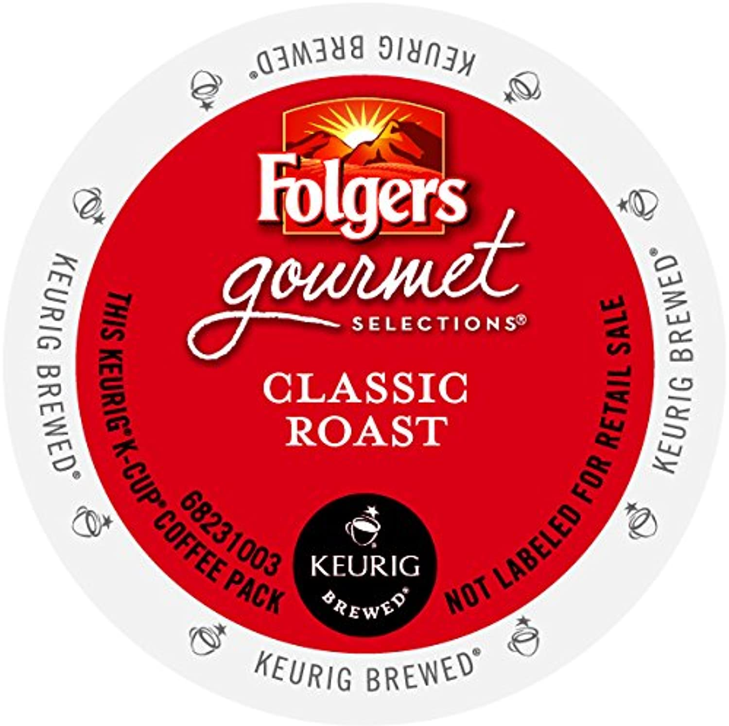 Folgers Classic Roast K-Cup for Keurig Brewers, 96 Count