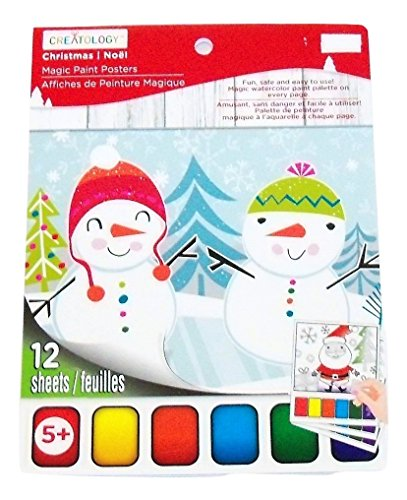 Creatology Magic Paint Posters ~ Christmas Edition (Penguin, Snowman, Santa Fun!; 12 Posters, 6' x 8')