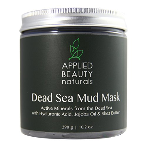Applied Beauty Naturals Dead Sea Mud Mask for Face and Body, Face Mask for Acne, Pores, Oily Skin, and Blackheads,10.2 oz