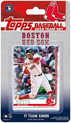 Boston Red Sox 2019 Topps Factory Sealed Limited Edition 17 Card Team Set with Dustin Pedroia product image